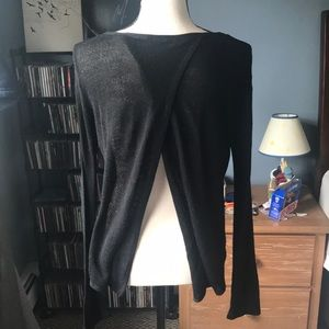 5/$25 Open Back Black Top Size Medium
